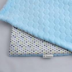 Couverture Nomade Bleue - Pois Multicolores