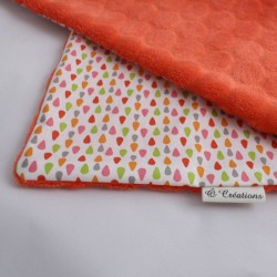 Couverture Nomade Orange - Gouttes d'Ô Rose