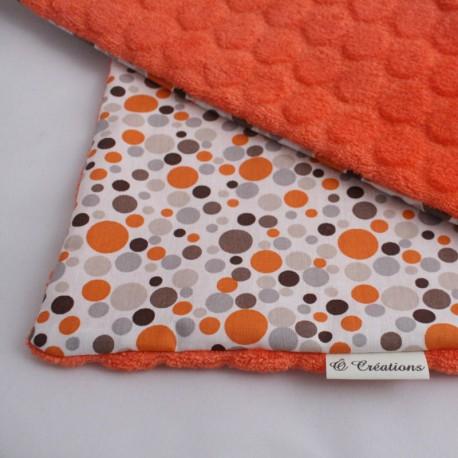 Couverture Nomade Orange - Gouttes d'Ô Rouge Orange