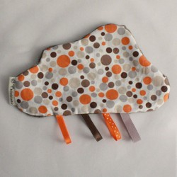 Doudou Nuage Gris - Bulles Orange