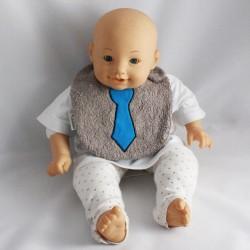 Bavoir 0-6 mois Cravate Bleue
