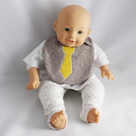 Bavoir 0-6 mois Cravate Jaune