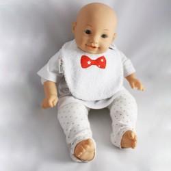 Bavoir 0-6 mois Nœud Pap' Rouge