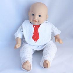 Bavoir 0-6 mois Cravate Rouge