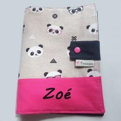 Protège Carnet de Santé Panda Mixte