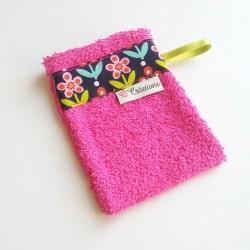 Gant de toilette Rose - Fleurs